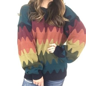 Vintage | Ash Creek Rainbow Sweater